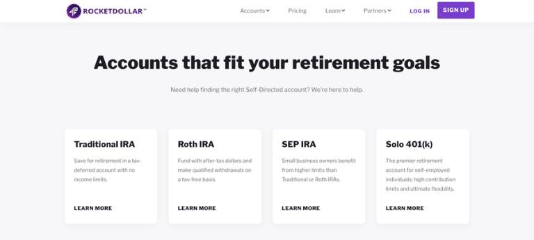 rocket dollar investment accounts