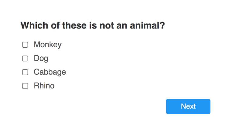 How to take a Survey with Survey step 2