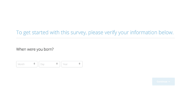 How to take a Survey with Survey step 4