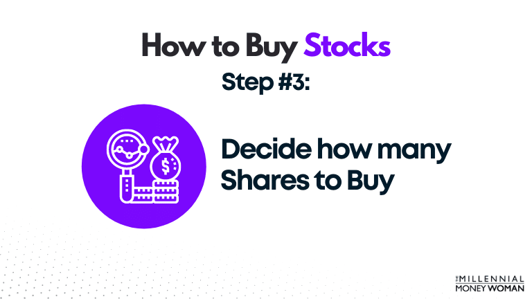 decide how many shares to buy
