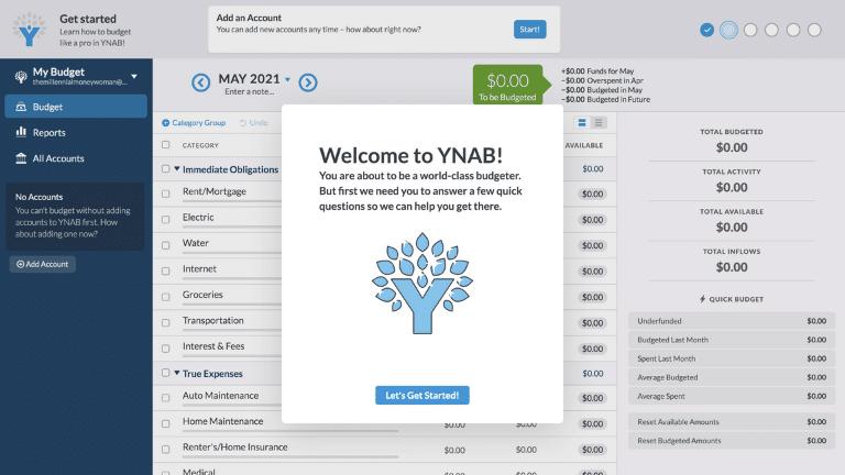 ynab - account set up step 3
